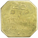 25 Øre (S. P. Petersens EFTF; EPTF instead of EFTF) – obverse