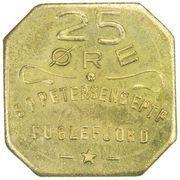 25 Øre (S. P. Petersens EFTF; EPTF instead of EFTF) – obverse