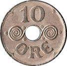 10 Øre - Christian X – reverse