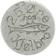 25 Øre (J F Kjølbro) – obverse