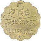 5 Øre (S. P. Petersens EFTF; Big letters) – obverse