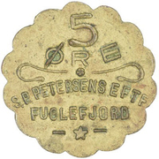 5 Øre (S. P. Petersens EFTF; Small letters) – obverse