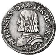 1 Testone - Alfonso I – obverse