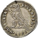 1 Testone - Alfonso II – reverse