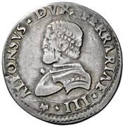 ½ Lira - Alfonso I – obverse