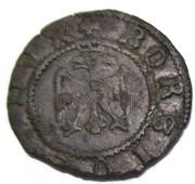 Quattrino, Borso d'Este (1471) – obverse