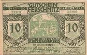 10 Heller (Ferschnitz) – obverse
