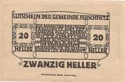 20 Heller (Ferschnitz) -  reverse