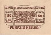 50 Heller (Ferschnitz) -  reverse