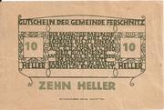 10 Heller (Ferschnitz) – reverse