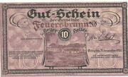 10 Heller (Feuersbrunn) -  obverse