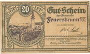 20 Heller (Feuersbrunn) – obverse