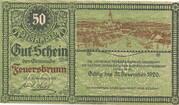 50 Heller (Feuersbrunn) – obverse