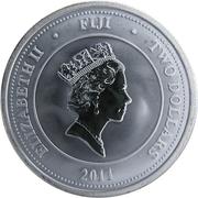 "2 Dollars - Elizabeth II (""Taku Turtle"" Silver Bullion) -  obverse"