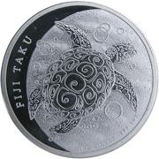 """2 Dollars - Elizabeth II (""""Taku Turtle"""" Silver Bullion) -  reverse"""
