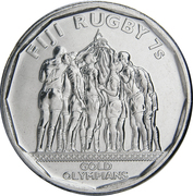 50 Cents (Rugby 7's) – obverse