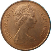 1 Cent - Elizabeth II (2nd portrait) -  obverse