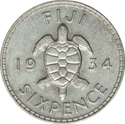 6 Pence - George V – reverse