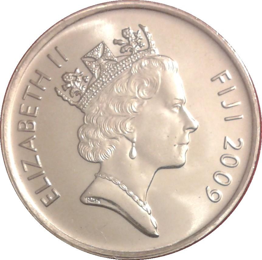 FIJI 5 CENTS 2010 UNC ROLL OF 40 COINS,FIJIAN DRUM-LALI DIVIDES DENOMINATION