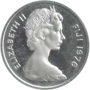 5 Cents - Elizabeth II (2nd portrait; Silver Proof Issue) -  obverse