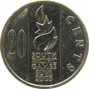 20 Cents - Elizabeth II (South Pacific Games) -  reverse