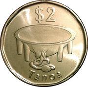 2 Dollars (small type) -  reverse