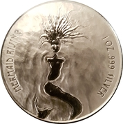 1 Dollar (Mermaid Rising) -  reverse