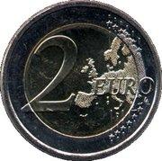 2 Euro (Frans Eemil Sillanpää) – reverse