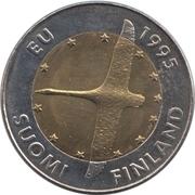 10 Markkaa (Finland's EU membership) -  obverse