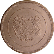 10 Penniä - Nikolai II (Civil War Coinage) – obverse