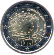 2 Euro (30 Years of EU Flag) – obverse