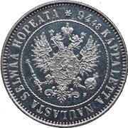 1 Markka - Aleksandr II / III / Nikolai II – obverse