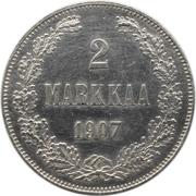 2 Markkaa - Aleksandr II / Nikolai II – reverse
