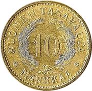 10 Markkaa -  reverse