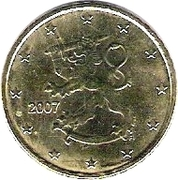50 Euro Cent (2nd type, 2nd map) -  obverse