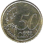 50 Euro Cent (2nd type, 2nd map) -  reverse