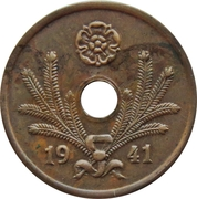 10 Penniä (with center hole) – obverse