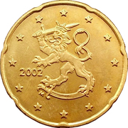 20 Euro Cent (1st type, 1st map) -  obverse
