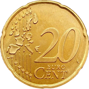 20 Euro Cent (1st type, 1st map) -  reverse