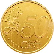 50 Euro Cent (1st type, 1st map) -  reverse