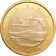 1 Euro (1st type, 1st map) -  obverse