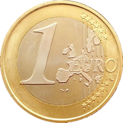 1 Euro (1st type, 1st map) -  reverse