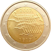 2 Euro (Independence) – obverse