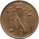 5 Penniä - Nikolai II – obverse