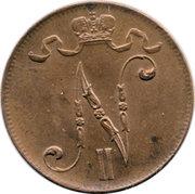 5 Penniä - Nikolai II -  obverse