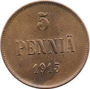 5 Penniä - Nikolai II – reverse