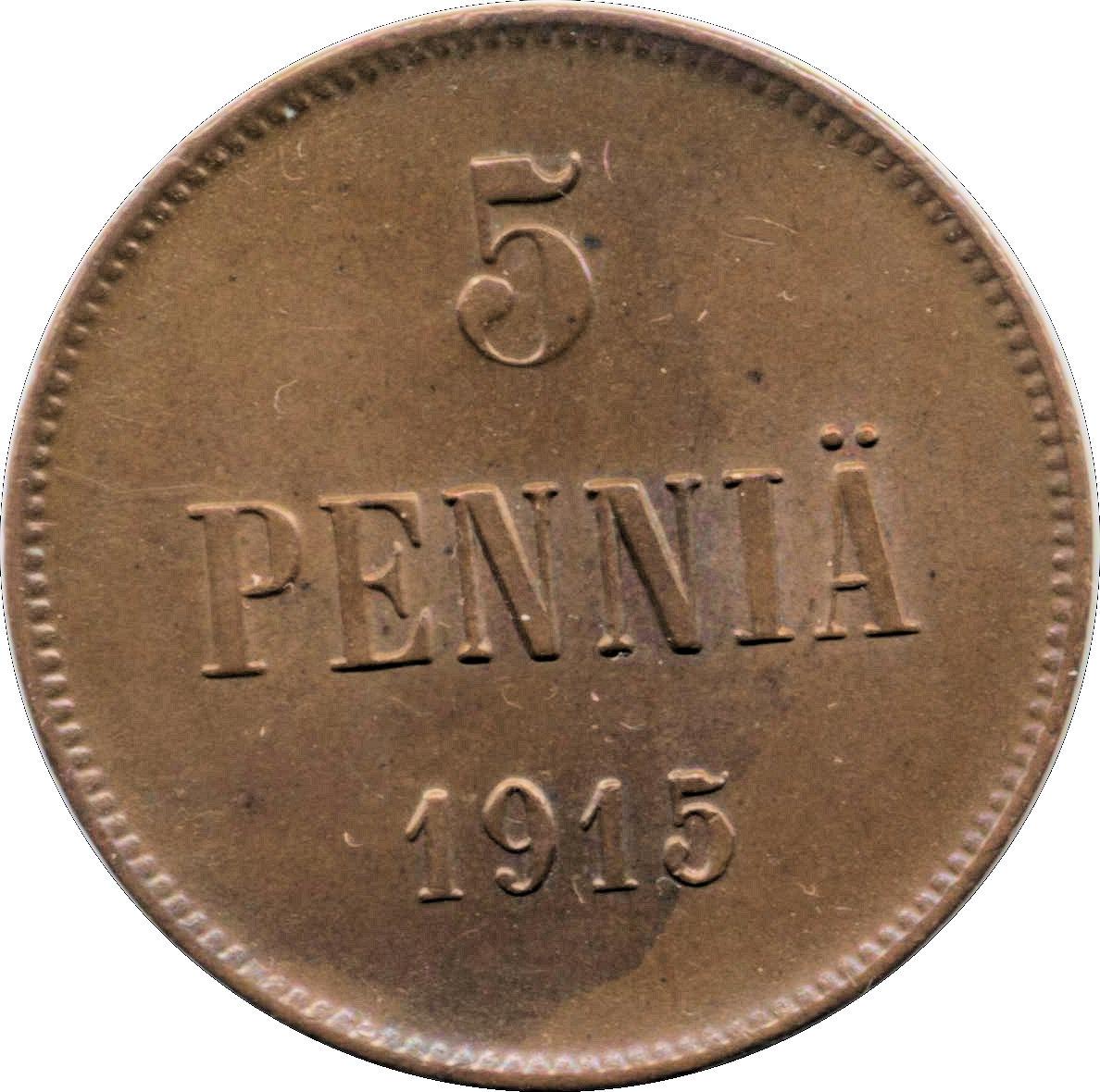 1915 D  COPPER PENNY--VF // XF