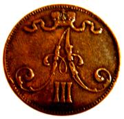 5 Penniä - Aleksandr III – obverse