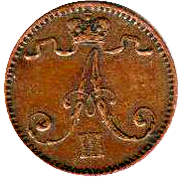 1 Penni - Aleksandr III – obverse