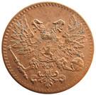 1 Penni - Nikolai II (Civil War Coinage) – obverse